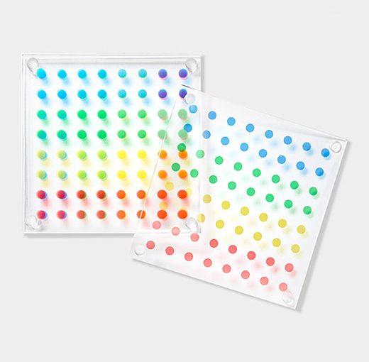 """Color Dot"" coasters"