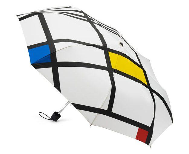 Mondrian White Mini Umbrella
