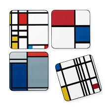 Sottobicchieri Mondrian